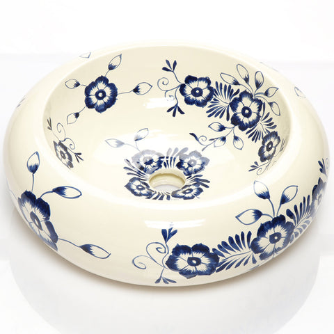 Mexican Alonsa Round Vessel Hand-painted Bathroom Basin  sc 1 st  Unique Sinks UK & Mexican hand-painted talavera designs u2013 Unique Sinks UK