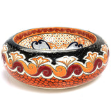 Mexican Hortencia Round Vessel Hand-painted Bathroom Basin