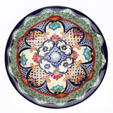 Mexican Juanetta Large Round Drop-In Hand-painted Bathroom Basin