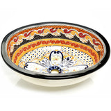 Mexican Ynes Large Drop-In Hand-painted Bathroom Basin