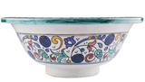 Moroccan HAFI Hand-Painted Bathroom Sink