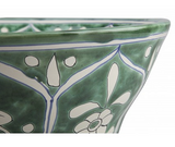 Mexican Baila Upright Vessel Hand-painted Bathroom Basin