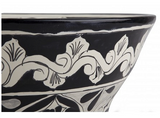 Mexican Atalaya Upright Vessel Hand-painted Bathroom Basin