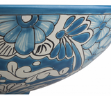 Mexican Lorena Vessel Hand-painted Bathroom Basin