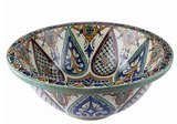 Moroccan LEILA Hand-Painted Bathroom Sink
