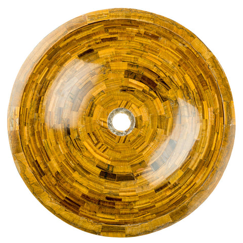 Tiger's Eye vessel  BATHROOM SINK