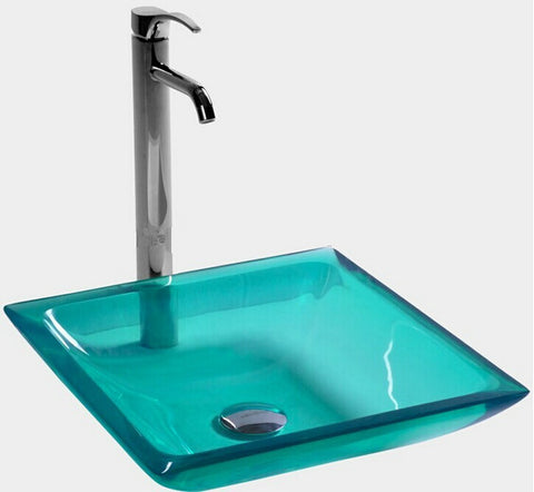 Acrylic Square Resin Vessel Basin-Choice of 6 colours