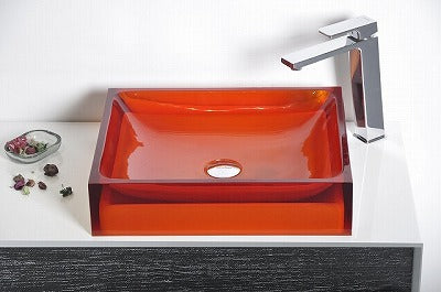 Acrylic Colourful Bathroom Vessel Basin RED OR BLUE