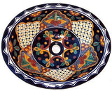 Mexican Mantel Ceramic Talavera Sink - Drop-in Basin