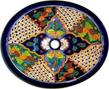 Mexican Janitzio Ceramic Talavera Sink - Drop-in Basin