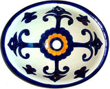 Mexican Valencia Talavera Ceramic Sink - Drop-in Basin