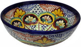 Mexican Colourful Ceramic Greca Round - Vessel Basin