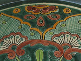 Mexican Green Greca Ceramic Talavera Sink - Drop-in Basin