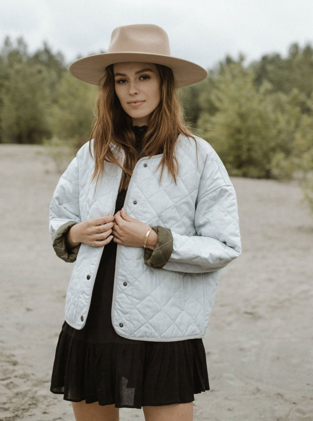 Tufa Quilted Jacket - Grey Ash