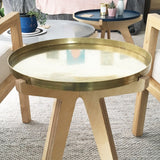Simply side table with brass top on birch plywood base.  Designed and made in Melbourne.
