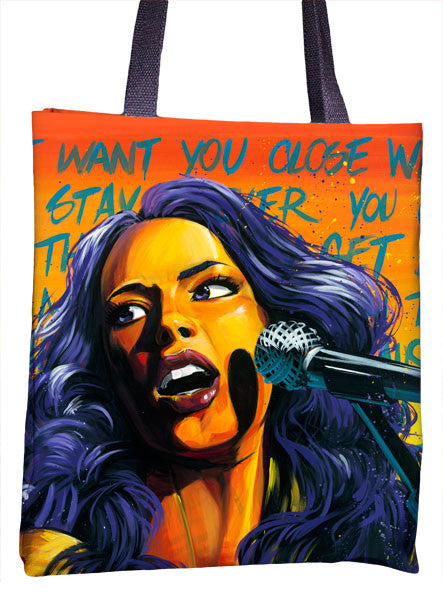 Alicia Keys Tote Bag