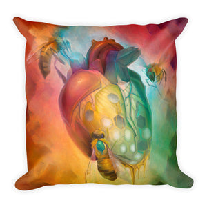 """Honey Heart"" Pillow"