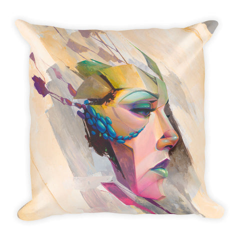 """Gypsum Rose"" Pillow"