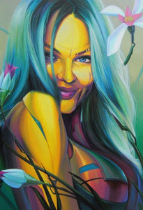 'Sunflower Playmate' print