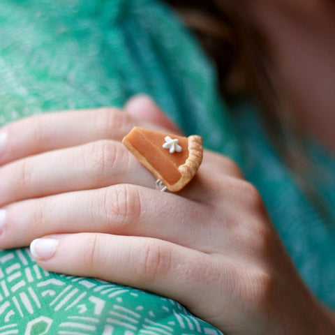 Scented Pumpkin Pie Ring - Tiny Hands  - 2