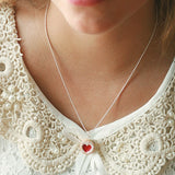 Scented Shortcake Heart Cookie Necklace - Tiny Hands  - 4