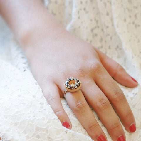 Scented Chocolate Nut Donut Ring - Tiny Hands  - 2