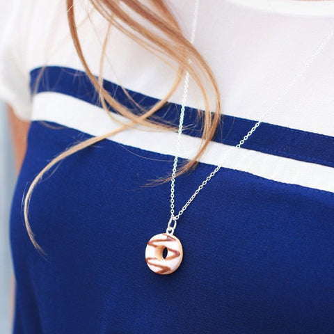 Scented Sugar Chocolate Donut Necklace - Tiny Hands  - 2