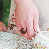 Scented Cherry Chocolate Truffle Ring - Tiny Hands  - 2