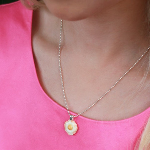 Bacon Scented Fried Egg Necklace - Tiny Hands  - 2