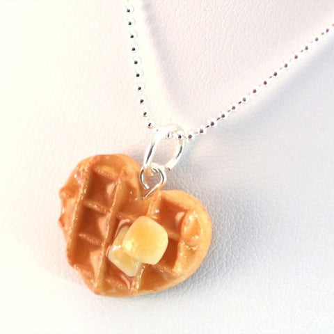 Scented Heart Waffle Necklace - Tiny Hands  - 2