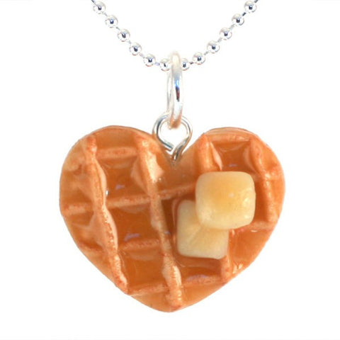 Scented Heart Waffle Necklace - Tiny Hands  - 1