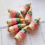 Scented Triple Scoop Ice Cream Cone Necklace - Tiny Hands  - 2
