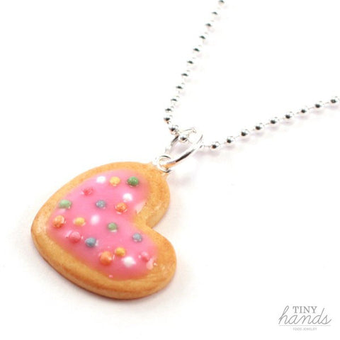 Scented Heart Cookie with Sprinkles Necklace - Tiny Hands  - 2