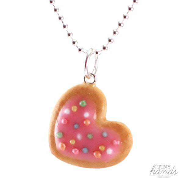 Scented Heart Cookie with Sprinkles Necklace - Tiny Hands  - 1