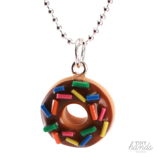 Scented Chocolate Sprinkles Donut Necklace - Tiny Hands  - 1
