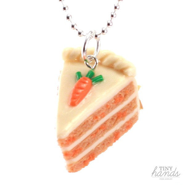 Scented Carrot Cake Necklace - Tiny Hands  - 1
