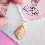 Scented Toaster Pastry Necklace - Tiny Hands  - 2