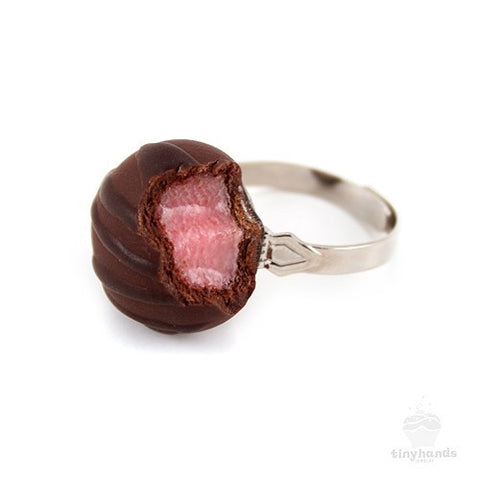 Scented Cherry Chocolate Truffle Ring - Tiny Hands  - 1