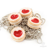 Scented Shortcake Heart Cookie Necklace - Tiny Hands  - 8