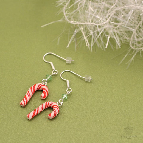 Scented Candy Cane Earrings - Tiny Hands  - 2