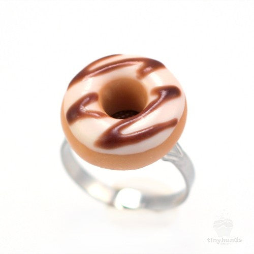 Scented Sugar Chocolate Donut Ring - Tiny Hands  - 4