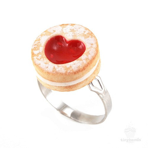Scented Shortcake Heart Cookie Ring - Tiny Hands  - 1