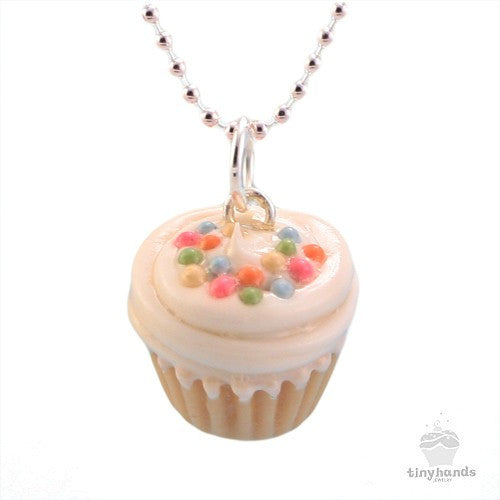 Scented Vanilla Sprinkles Cupcake Necklace - Tiny Hands  - 1