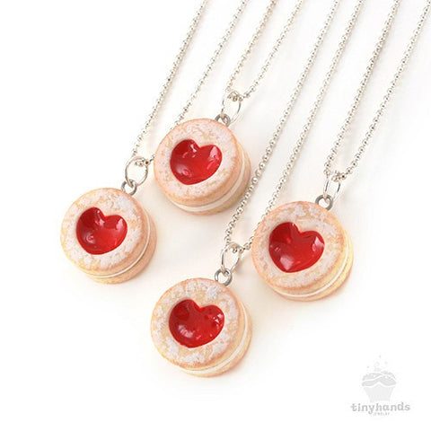 Scented Shortcake Heart Cookie Necklace - Tiny Hands  - 1