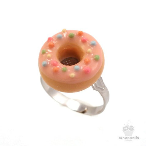 Scented Strawberry Sprinkles Donut Ring - Tiny Hands  - 1