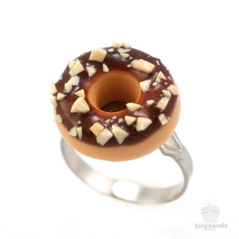 Scented Chocolate Nut Donut Ring - Tiny Hands  - 1
