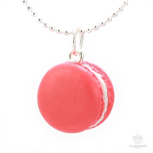 Scented Rose French Macaron Necklace - Tiny Hands  - 1