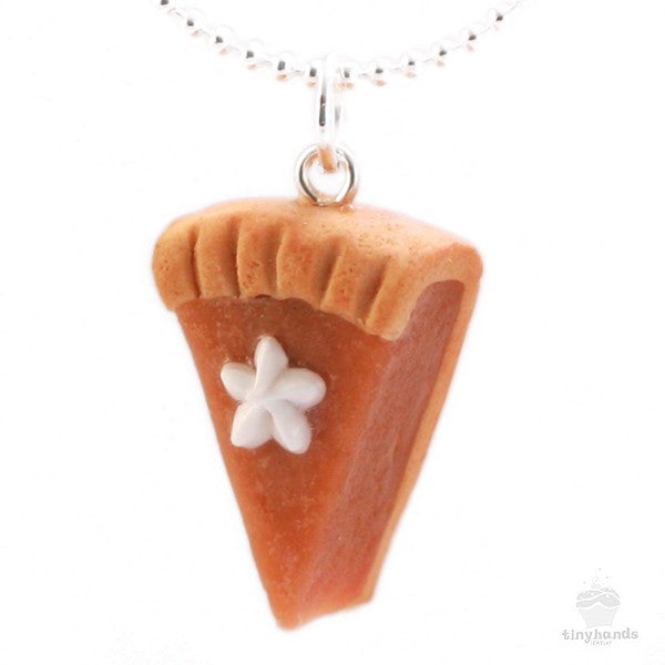 Scented Pumpkin Pie Necklace - Tiny Hands  - 1