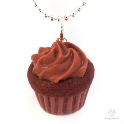 Scented Chocolate Cupcake Necklace - Tiny Hands  - 1