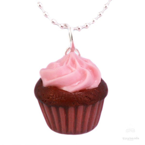 Scented Strawberry Chocolate Cupcake Necklace - Tiny Hands  - 1